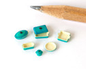1:48 (quarter scale) bakeware: pots, pans, lids for miniature scenes.