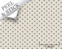 Hexagon tile pattern, iron color. 1:48 quarter scale peel and stick wallpaper