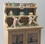 Snow Village Windmill; Copper Color Glitter House Kit