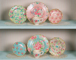Chintz decals for dollhouse miniature dishes