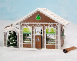 Gingerbread Ornament Shop Kit - Shop Only; Furniture, trees, and ornaments are available in the Interior Kit.