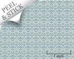 Blue Damask Quarter Scale Wallpaper
