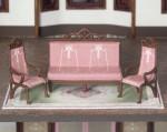 quarter scale bench and chairs for C'est La Vie boutique