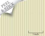 Breakfast Stripe, Green. 1:48 quarter scale peel and stick wallpaper