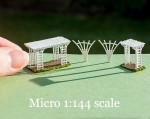 micro 1/144 scale pergola, trellises and arbor kit