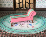 Quarter scale (1:48) chaise kit with upholstery