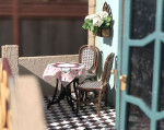 4 sets of quarter scale outdoor cafe tables and chairs kit
