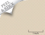 Gingham pattern, sand color. 1:48 quarter scale peel and stick wallpaper