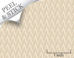 Basket pattern, sand color. 1:48 quarter scale peel and stick wallpaper