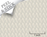 Basket pattern, pewter color. 1:48 quarter scale peel and stick wallpaper