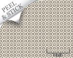 Medina tile pattern, ivory and black color. 1:48 quarter scale peel and stick wallpaper