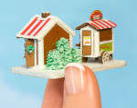 Micro Gingerbread Pretzel Stall & Wurst Wagon Kit