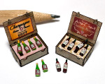 1:48 quarter scale wine and champagne boxes kit