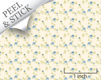 1:48 Peel and Stick Wallpaper - Blooming Blue