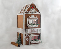 Exterior of the Gingerbread Cafe quarter scale dollhouse miniature kit