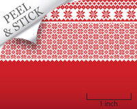 Quarter scale, peel and stick wallpaper - red snowflake from True2Scale