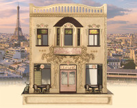 C'est La Vie quarter scale cafe and boutique kit