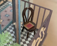 1:48 rattan, bentwood chair for miniatures