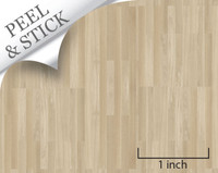1:48 Peel and Stick Flooring - White Oak Random Plank