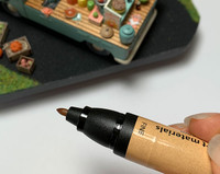 Oak color art marker for coloring dollhouse miniature kits