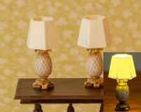 Pineapple Lamps - Set of 2