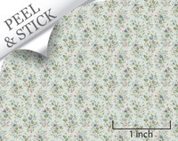 Just Picked, pistachio color. 1:48 quarter scale peel and stick wallpaper