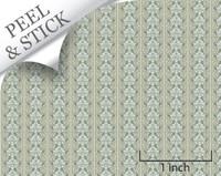 Celeste pattern, pistachio color. 1:48 quarter scale peel and stick wallpaper