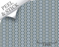 Celeste pattern, denim color. 1:48 quarter scale peel and stick wallpaper