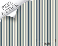 Ticking stripe pattern, denim color. 1:48 quarter scale peel and stick wallpaper
