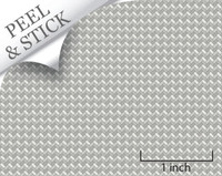 Herringbone tile pattern, pewter color. 1:48 quarter scale peel and stick wallpaper
