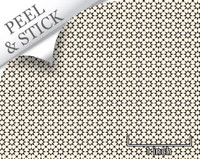 Medina tile pattern, ivory and black color. 1:48 quarter scale peel and stick wallpaper