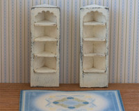 Quarter scale corner shelves kit