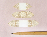 One inch scale laser cut doilies. Set of 3.