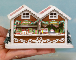 Dollhouse Miniature Rustic Market Stall Kit 1:48 Quarter Scale O Scale