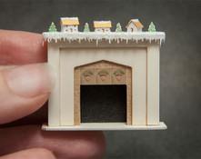 Quarter scale glitter houses