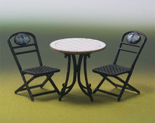 1:48 Wrought Iron Table and Chairs Kit