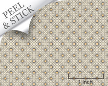 Quarter scale peel and stick wallpaper and flooring. Quick and easy project for dollhouse miniatures.