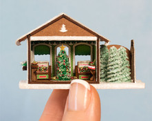 Micro Gingerbread Ornament Shop with Furnishings