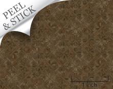 1:48 peel and stick flooring: walnut parquet pattern