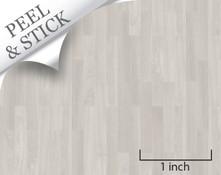Oak Random Plank Flooring quarter scale