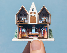 Micro Gingerbread Toy Shop Kit with Furnishings