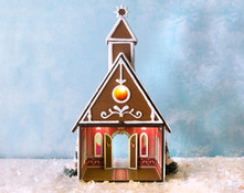 Inside the Quarter Scale Gingerbread Chapel Kit