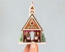 Micro Gingerbread Wedding Chapel Kit