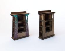 1:48 Three-Sided Bookcases (2 pcs)