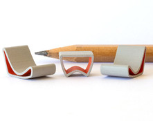 1:48 quarter scale mid-century modern table and chairs