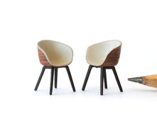1:48 quarter scale modern chairs for a dining table, desk chair, office chair