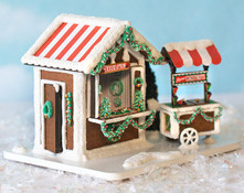 1:48 Gingerbread Market Scene with Chestnut Cart - Complete Kit - RETIRED