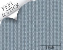 Twigs pattern, denim color. 1:48 quarter scale peel and stick wallpaper