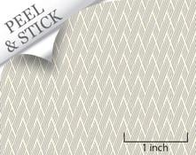 Basket pattern, pewter color. 1:48 quarter scale peel and stick wallpaper