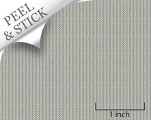 Twig pattern, pewter color. 1:48 quarter scale peel and stick wallpaper